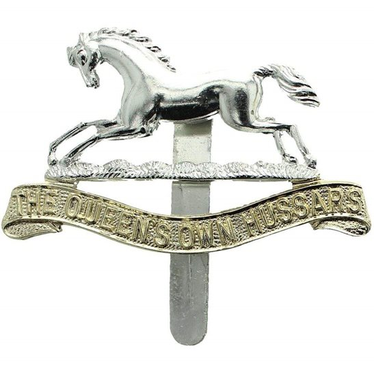 Queens Own Hussars Regiment Staybrite Anodised Queen's Cap Badge - Staybright