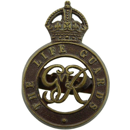 Life Guards WW2 The Life Guards Regiment OFFICERS Bronze George VI Cap Badge