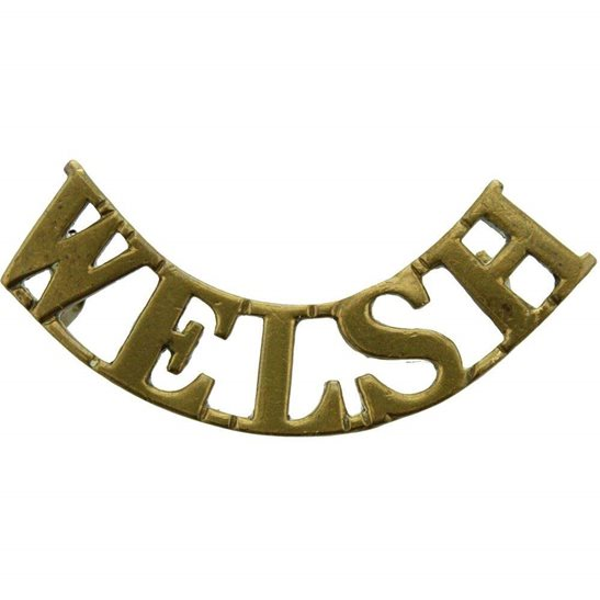 Welsh Regiment WW1 Welsh (Welch) Regiment Shoulder Title