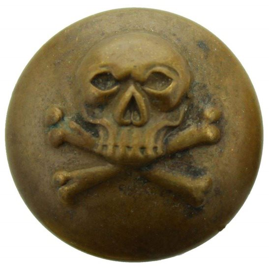 17th Lancers WW1 17th Lancers Regiment DEATHS HEAD Tunic Button - 22mm