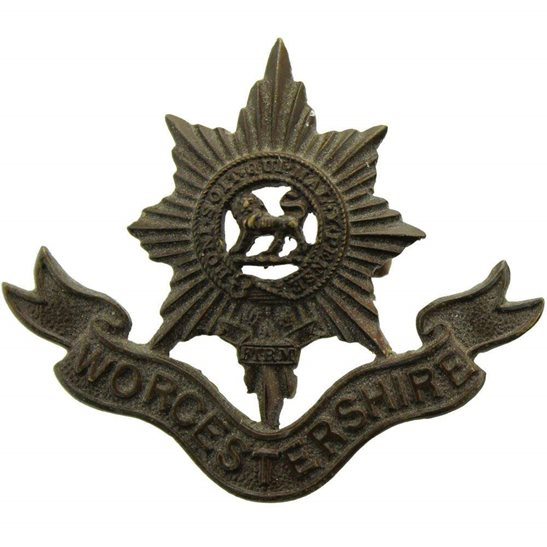 Worcestershire Regiment Worcestershire Regiment OFFICERS Bronze Collar Badge