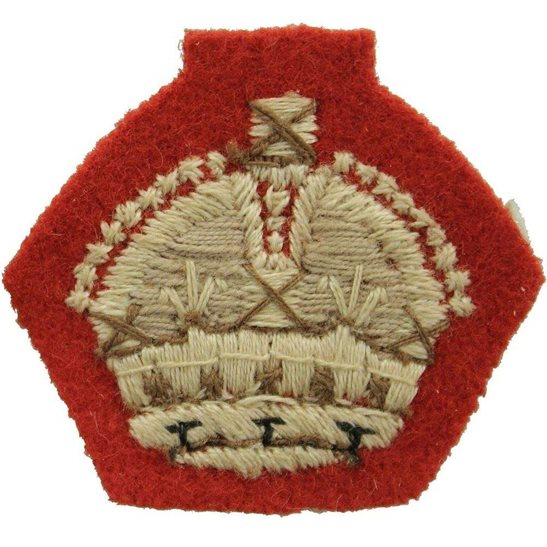 WW2 British Army Officers CLOTH Insignia Crown Pip - Rank of Major