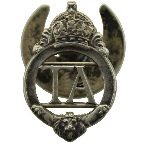 Territorial Battalions British Territorial Army Forces Silver Lapel Badge