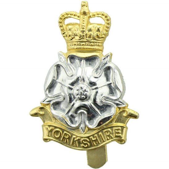 Yorkshire Regiment Yorkshire Regiment Staybrite Anodised Cap Badge - Staybright