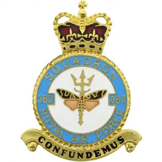 RAF Squadrons 360 Squadron Royal Air Force PLAQUE Badge RAF