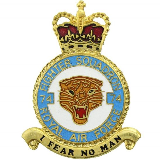 RAF Squadrons 74 Squadron Royal Air Force PLAQUE Badge RAF