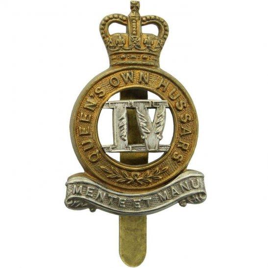 4th Hussars 4th Queens Own Hussars Regiment Queen's Cap Badge - Queens Crown