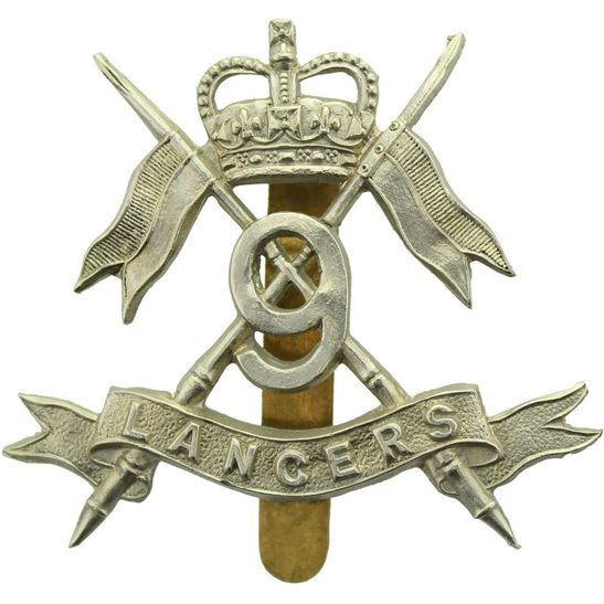 9th Queens Royal Lancers 9th Queen's Royal Lancers Regiment Cap Badge - Queens Crown
