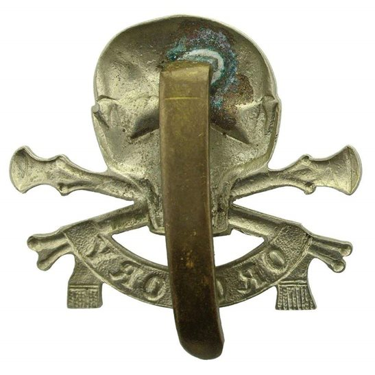 additional image for WW1 17th / 21st Lancers (Deaths Head) Regiment Cap Badge