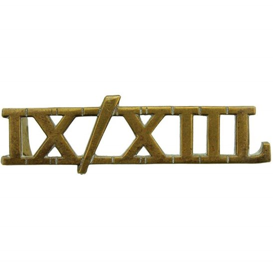 9th / 12th Royal Lancers 9th / 12th Royal Lancers Regiment Shoulder Title - IX/XIIL