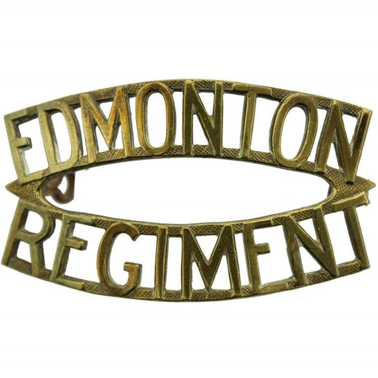 WW2 Canadian Army WW2 Edmonton Regiment Of Canada Canadian Shoulder Title