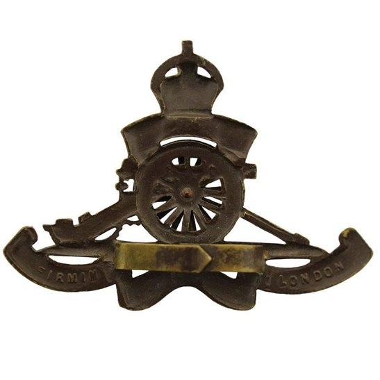 additional image for WW1 Royal Artillery Regiment OFFICERS Bronze Cap Badge