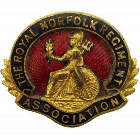 Norfolk Regiment Royal Norfolk Regiment Old Comrades Association OCA Lapel Badge