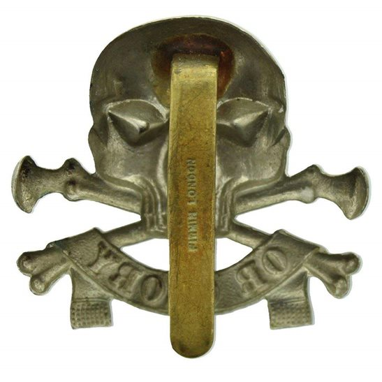 additional image for WW1 17th / 21st Lancers (Deaths Head) Regiment Cap Badge - FIRMIN LONDON