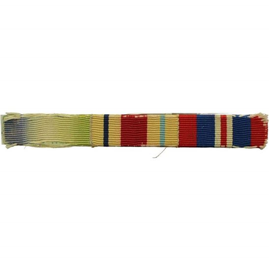 WW2 Medal Ribbon Bar - Atlantic Star, Africa Star & War Medal - PIN BACK