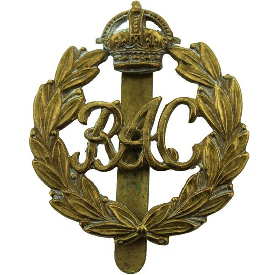 Royal Armoured Corps WW2 Royal Armoured Corps RAC Cap Badge - FIRST PATTERN