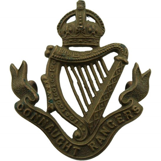 Connaught Rangers Connaught Rangers Regiment Irish Cap Badge - EARLY LUGS VERSION