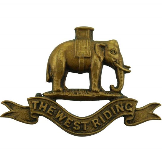 West Riding Duke of Wellingtons West Riding Regiment OFFICERS Bronze Collar Badge
