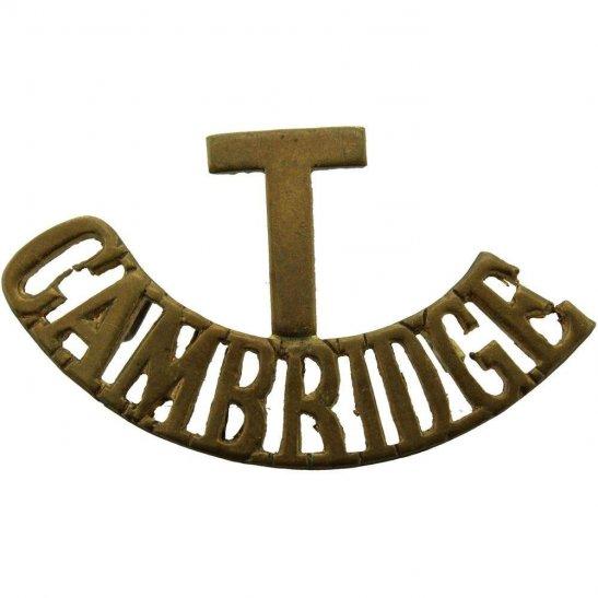 Cambridgeshire Regiment Territorial Battalion Cambridge Shoulder Title