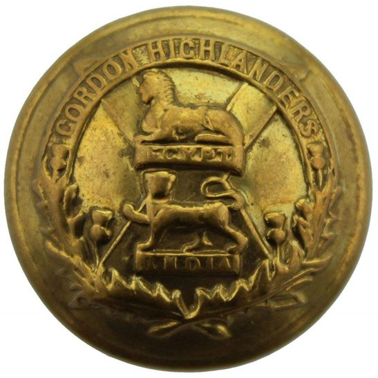 Gordon Highlanders Gordon Highlanders Regiment Scottish Tunic Button - 26mm