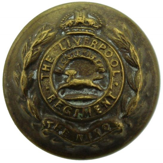 Kings Liverpool The Kings Liverpool (King's) Regiment SMALL Tunic Button - 20mm