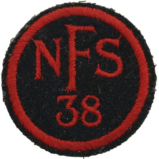 Auxiliary Fire Service WW2 National Fire Service Brigade Corps NFS 38 District Cloth Cap Badge
