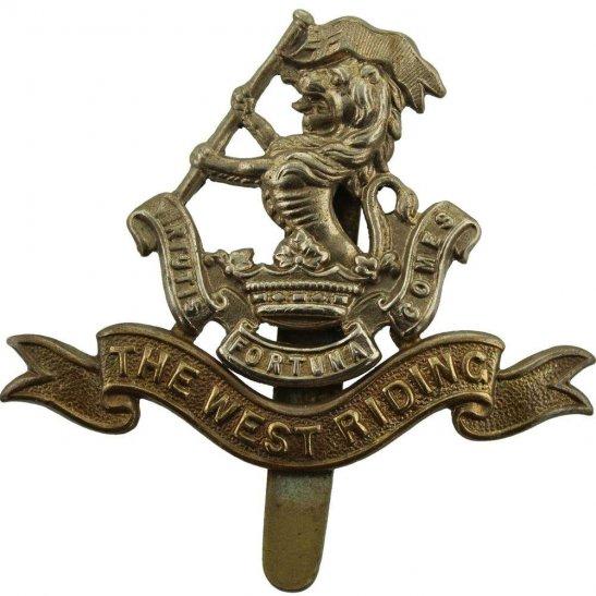 West Riding Duke of Wellingtons West Riding Regiment Cap Badge - F.N. B'HAM Makers Mark