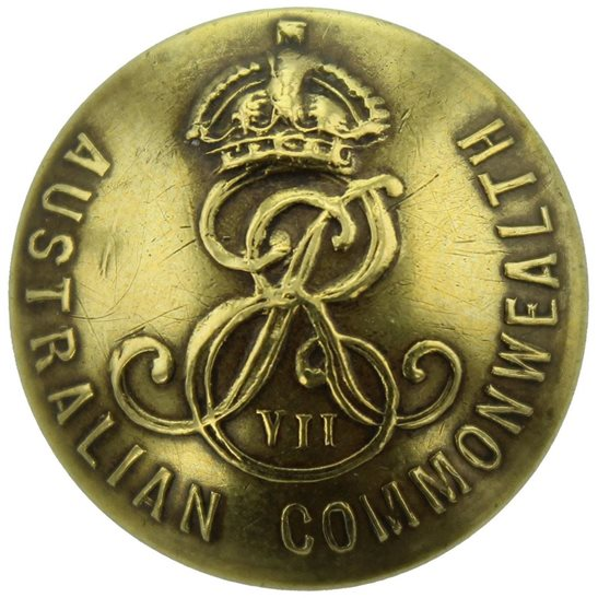 WW1 Australian Army EDWARDIAN Australian Military Forces Corps Tunic Button - 26mm