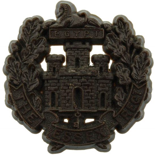 Essex Regiment WW2 Essex Regiment PLASTIC Economy Issue Cap Badge