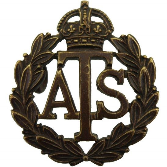 Auxiliary Territorial Service ATS WW2 Auxiliary Territorial Service ATS Corps OFFICERS Bronze Collar Badge