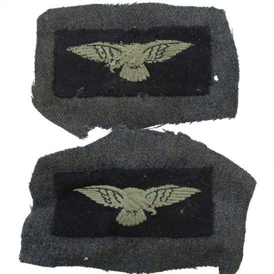 Royal Air Force RAF WW2 Royal Air Force RAF Eagle Cloth Shoulder Title Badge Flash PAIR