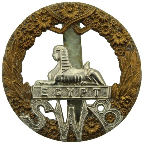 South Wales Borderers South Wales Borderers SWB Regiment Cap Badge
