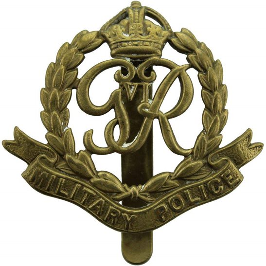 Royal Military Police RMP WW2 Royal Military Police Corps RMP Cap Badge (George VI)