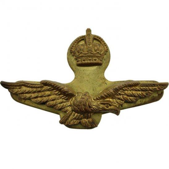 Royal Air Force RAF WW2 Royal Air Force RAF Side / Forage 2-Piece Cap Badge