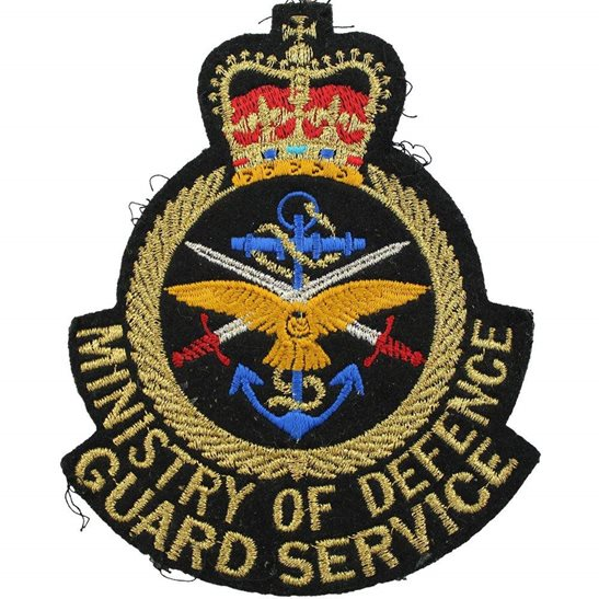 Ministry of Defence MOD Ministry of Defence MOD Guard Service Cloth Insignia Blazer Uniform Badge Flash