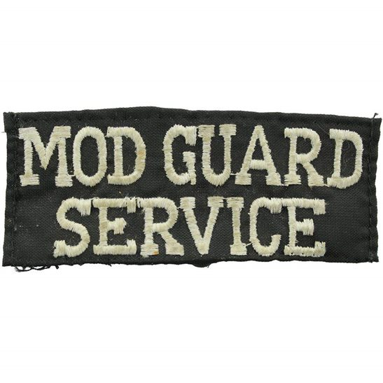 Ministry of Defence MOD Ministry of Defence MOD Guard Service Cloth Shoulder Title Uniform Badge Flash
