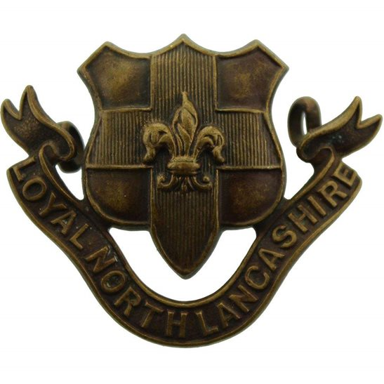 Loyal North Lancashire Loyal North Lancashire Regiment OFFICERS Bronze Collar Badge