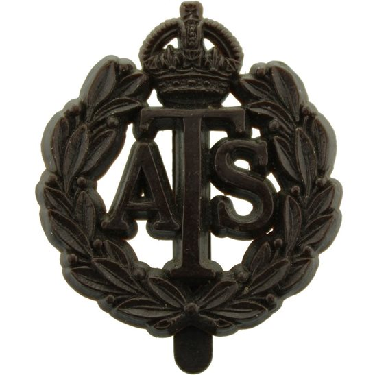 Auxiliary Territorial Service ATS WW2 Auxiliary Territorial Service ATS PLASTIC Economy Issue Cap Badge