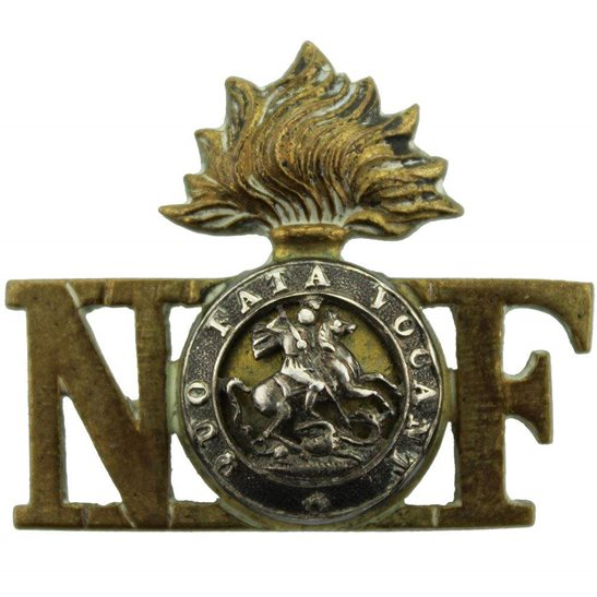 Northumberland Fusiliers Northumberland Fusiliers Regiment OFFICERS Bi-Metal Shoulder Title