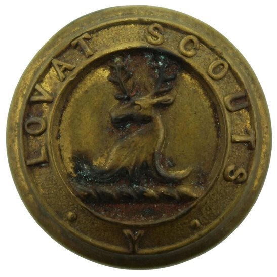 Lovat Scouts WW1 Lovat Scouts Yeomanry Regiment Scottish Tunic Button - 25mm
