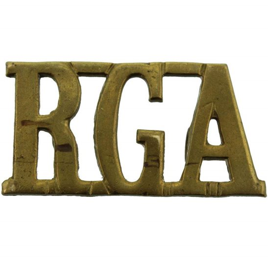Royal Garrison Artillery RGA WW1 Royal Garrison Artillery RGA Shoulder Title