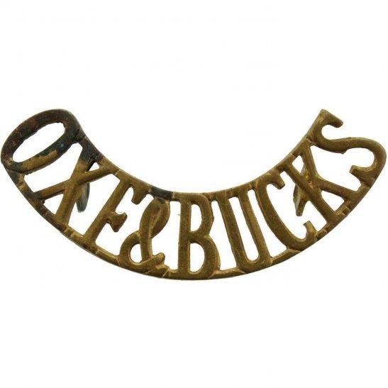 Oxfordshire & Buckinghamshire Light Infantry Oxfordshire and Buckinghamshire Light Infantry Regiment Shoulder Title
