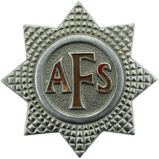 Auxiliary Fire Service WW2 Auxiliary Fire Service Brigade Corps AFS Cap Badge