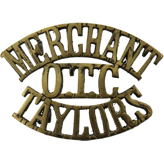 Officer Training Corps OTC Merchant Taylors College OTC Officers Training Corps Shoulder Title