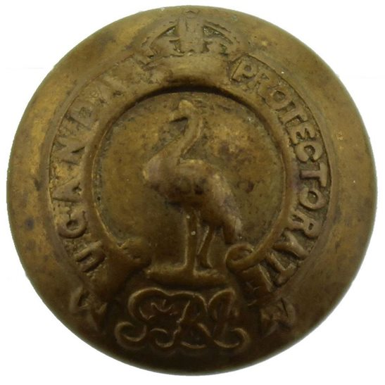 Uganda Protectorate Levies British Colonial Regiment SMALL Tunic Button - 18mm