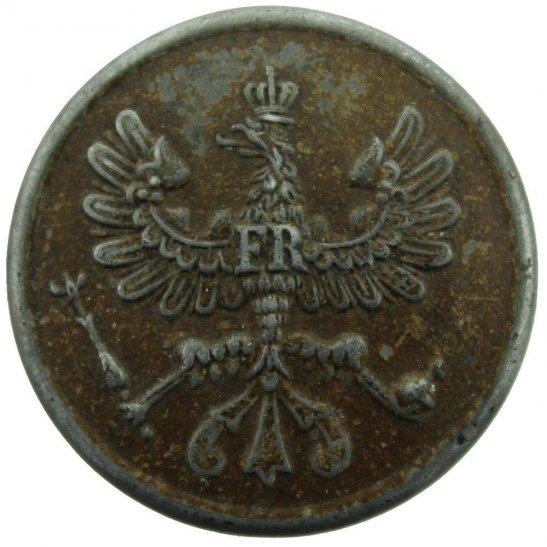 WW1 German Army WW1 Imperial German Large NCO Rank Prussian Collar Badge Button - 30mm