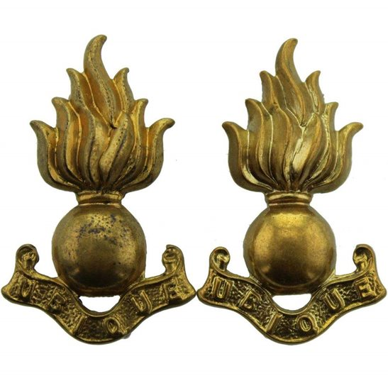 Royal Engineers WW1 Royal Engineers Corps Collar Badge PAIR