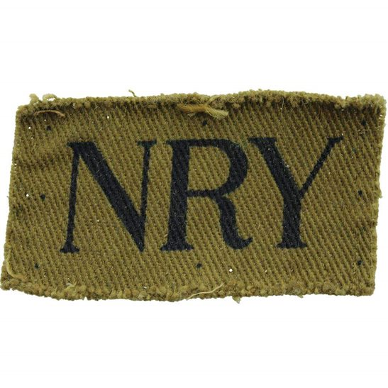 Home Guard WW2 Home Guard North Riding of Yorkshire NRY Unit Cloth Shoulder Title Insignia Badge