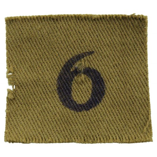 Home Guard WW2 Home Guard 6th Company / Battalion Unit Cloth Shoulder Title Insignia Badge