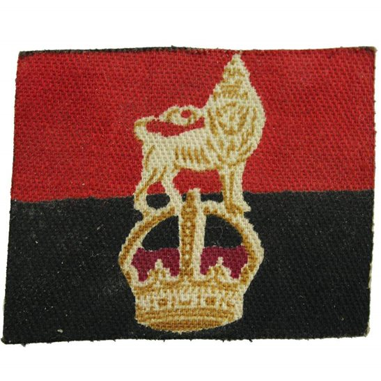 WW2 War Office Controlled Units PRINTED Cloth Formation Sign Patch Badge